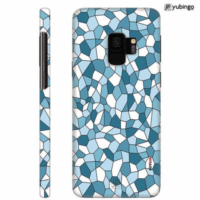 Blue Mosaic Back Cover for Samsung Galaxy S9