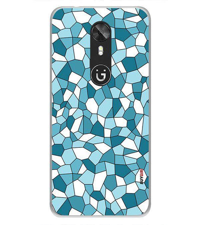 Blue Mosaic Back Cover for Gionee A1