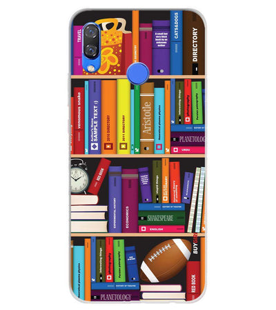 Books Soft Silicone Back Cover for Huawei Y9 (2019)