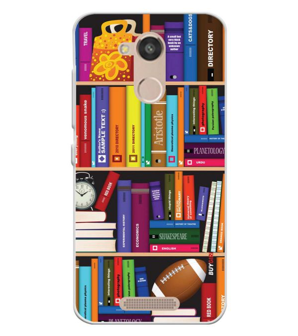 Books Soft Silicone Back Cover for InFocus Turbo 5s