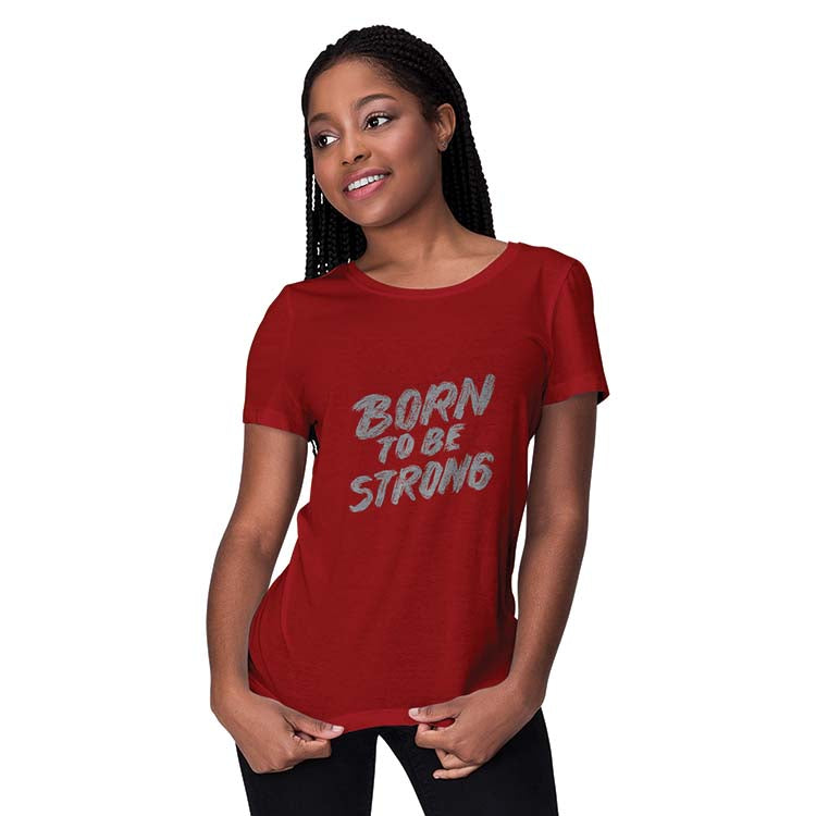 Born To Be Strong Women T-Shirt-White
