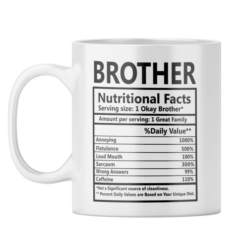 Brother Nutritional Fact Coffee Mug