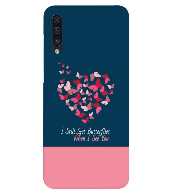 Butterflies on Seeing You Back Cover for Samsung Galaxy A50