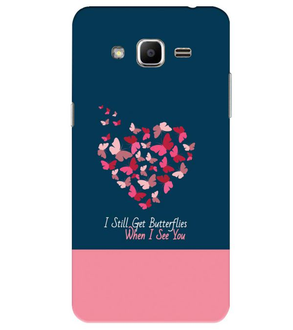 size 40 da3be 2d156 Butterflies on Seeing You Back Cover for Samsung Galaxy J2 Ace