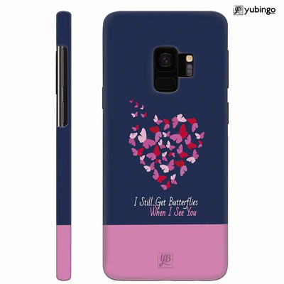 Butterflies on Seeing You Back Cover for Samsung Galaxy S9