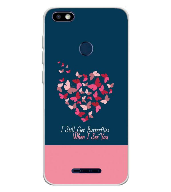 official photos 14d37 ee5b3 Butterflies on Seeing You Soft Silicone Back Cover for Lava Z91