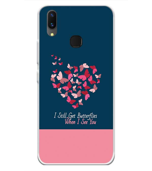 Butterflies on Seeing You Soft Silicone Back Cover for Vivo X21