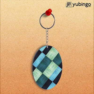 3D Tiles Oval Key Chain-Image2