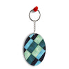 3D Tiles Oval Key Chain
