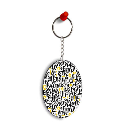 Alphabets & Numbers Oval Key Chain