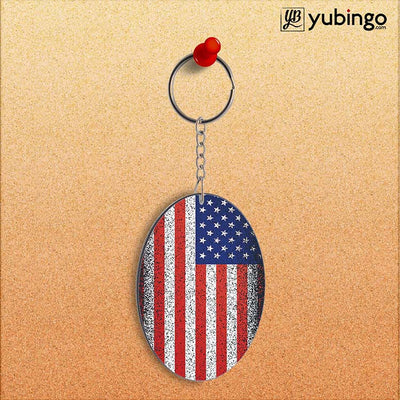 America Oval Key Chain-Image2