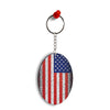 America Oval Key Chain