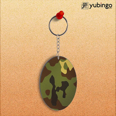 Army Camouflage Oval Key Chain-Image2