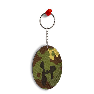 Army Camouflage Oval Key Chain