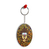 Artistic Buddha Oval Key Chain