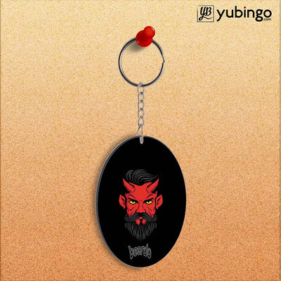 Beardo Stylish Fellow Oval Key Chain-Image2