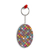 Beautiful Mandala Pattern Oval Key Chain
