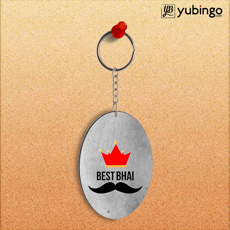 Best Bhai Oval Key Chain