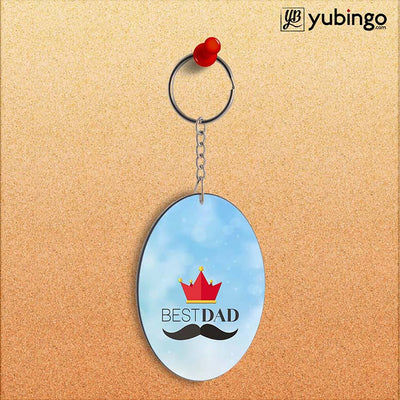 Best Dad Oval Key Chain-Image2