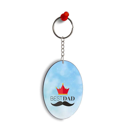 Best Dad Oval Key Chain