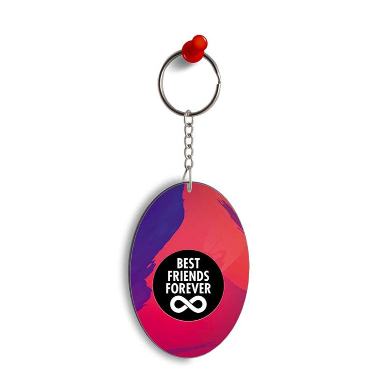 Best Friends Forever Oval Key Chain