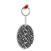 Black & White Pattern Oval Key Chain
