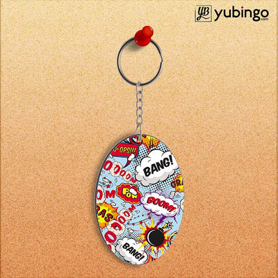 Boom Bang Oval Key Chain-Image2