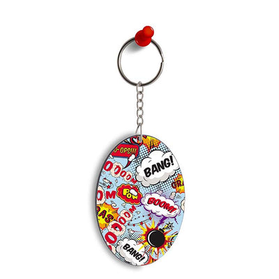 Boom Bang Oval Key Chain