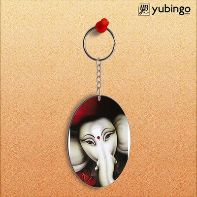 Calm Ganesha Oval Key Chain-Image2