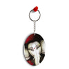 Calm Ganesha Oval Key Chain