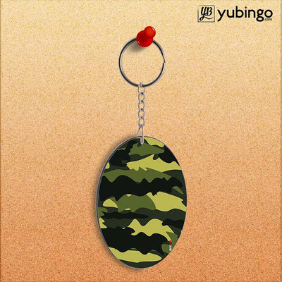 Camouflage Oval Key Chain-Image2