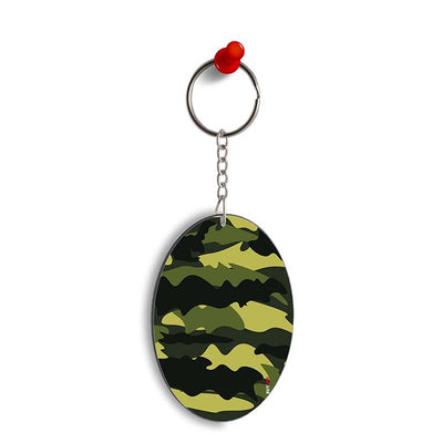 Camouflage Oval Key Chain
