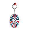 Colourful Customised Alphabet Oval Key Chain