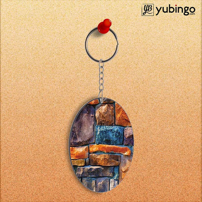 Colourful Stones Oval Key Chain-Image2