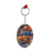 Colourful Stones Oval Key Chain