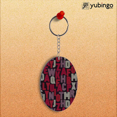 Cool Alphabets Oval Key Chain-Image2