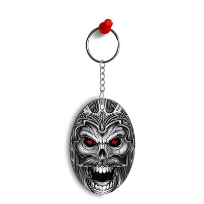 Cool Monster Oval Key Chain