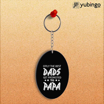 Dad and Papa Oval Key Chain-Image2