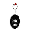Dad and Papa Oval Key Chain