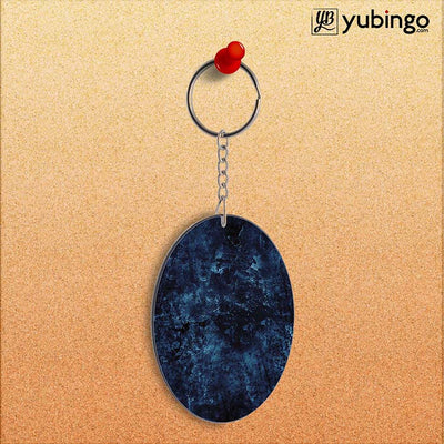Deep Blues Oval Key Chain-Image2