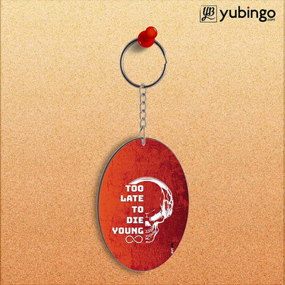 Die Young Oval Key Chain-Image2