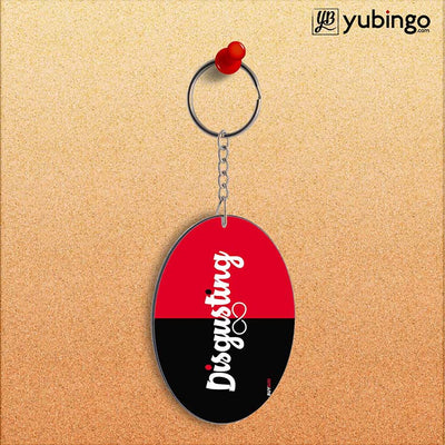 Disgusting Oval Key Chain-Image2