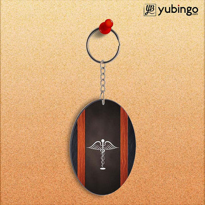 Doctor Symbol Oval Key Chain-Image2