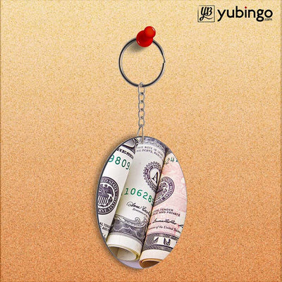 Dollars Oval Key Chain-Image2