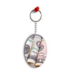 Dollars Oval Key Chain