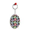 Donuts Oval Key Chain