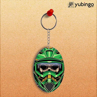 Driving Skull Oval Key Chain-Image2