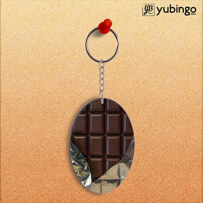 Eat that Chocolate Bar Oval Key Chain-Image2