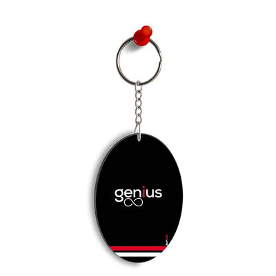 Genius Oval Key Chain