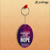 In Christ I Find Hope Oval Key Chain-Image2